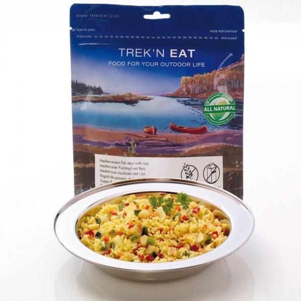 Trek'n Eat Mediterraner Fischtopf mit Reis Trekkinmahlzeit, Expeditionsnahrung