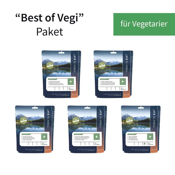 """Trek'n Eat """"Best of Vegi"""" Paket - vegetarische Trekking-Mahlzeiten"""