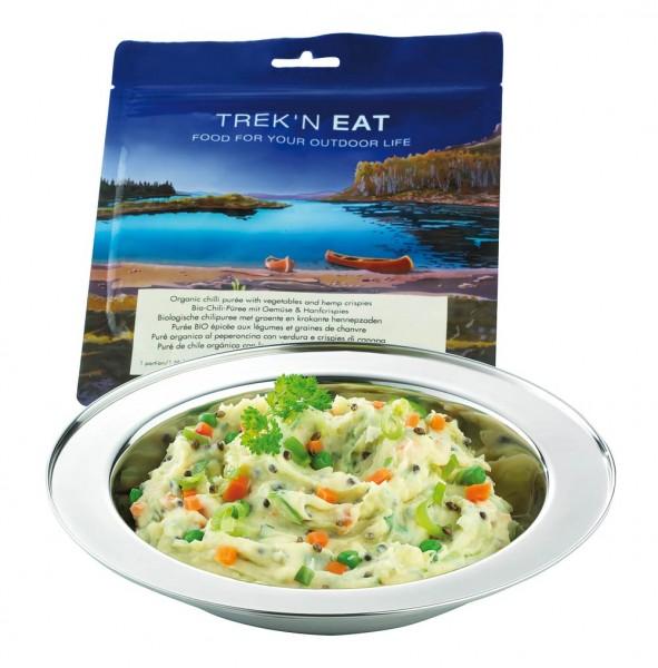 Expeditionsmahlzeit Trek'n Eat Chilli Püree mit gemüse und Hanf Crispies