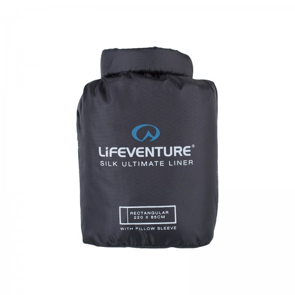 Liner-Schlafsack Lifeventure Silk Liner black Rechteck