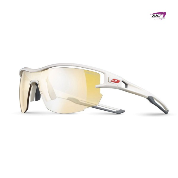 Tral Running Brille Julbo Aero Zebra Light white