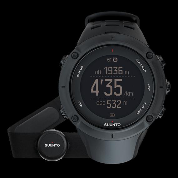 GPS-Multisportuhr Suunto AMBIT3 PEAK mit Herzfrequenzgurt