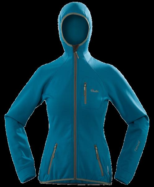 Tilak Femund Women marocan blue Powerstretch Fleece-Jacke