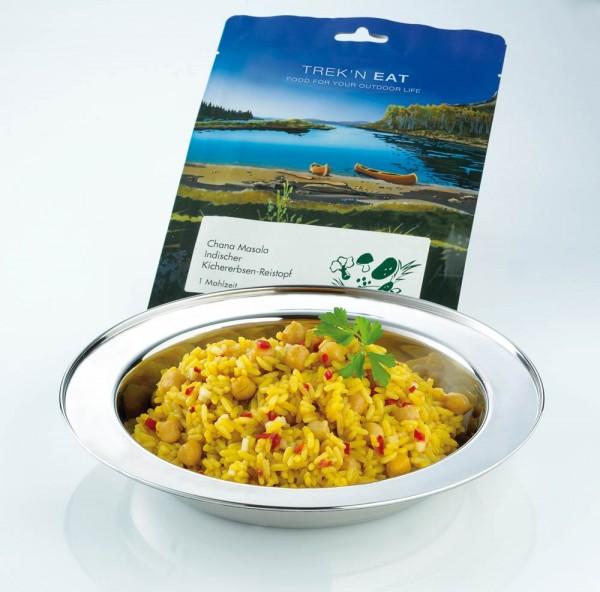 Trekkinggericht Chana Masala von Trek'n Eat Reistopf mit Kichererbsen