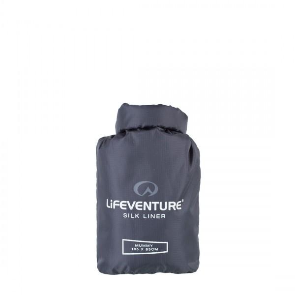 Liner-Schlafsack Lifeventure Silk Liner grey mummy